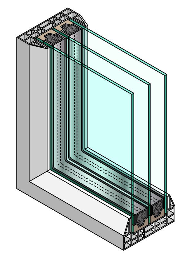 double pane vs. triple pane windows