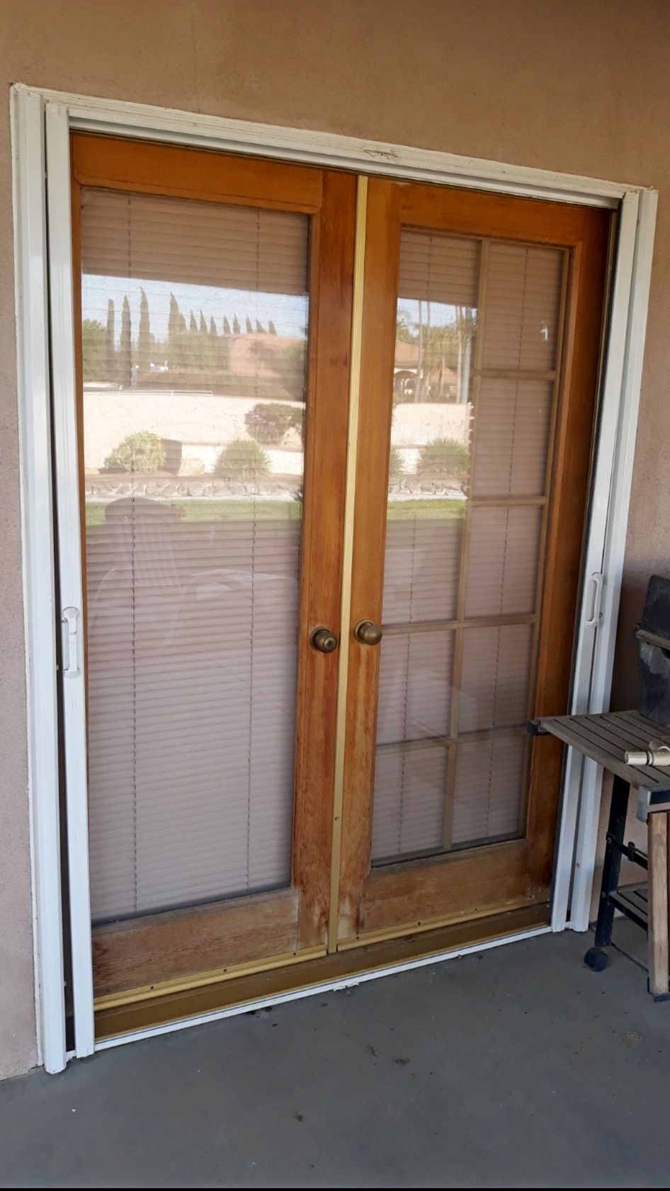 Bakersfield Patio Door - Before