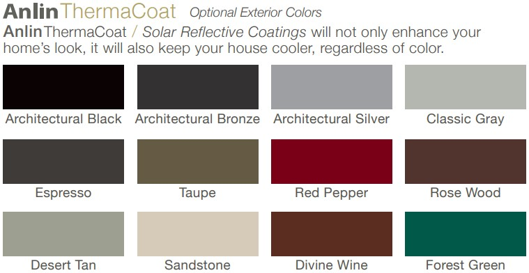 Anlin window color options