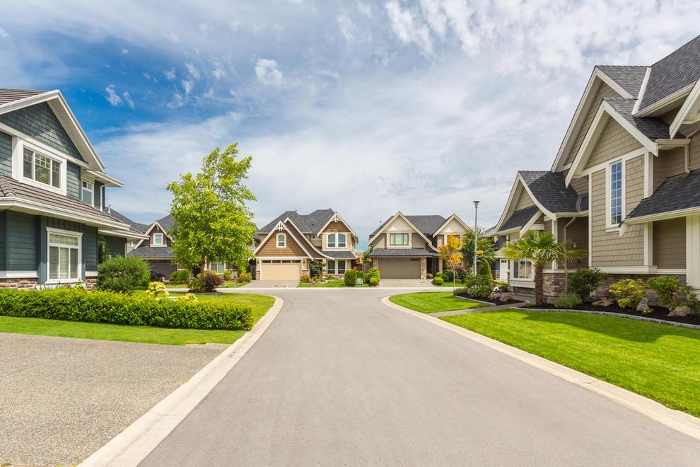 Street View of Neighborhood with HOA Requirements