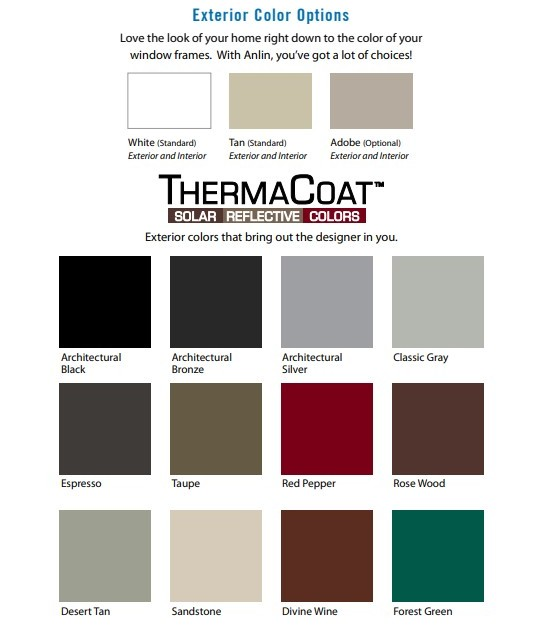 Anlin Coronado Windows color choices