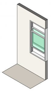 3D Illustration of double hung windows