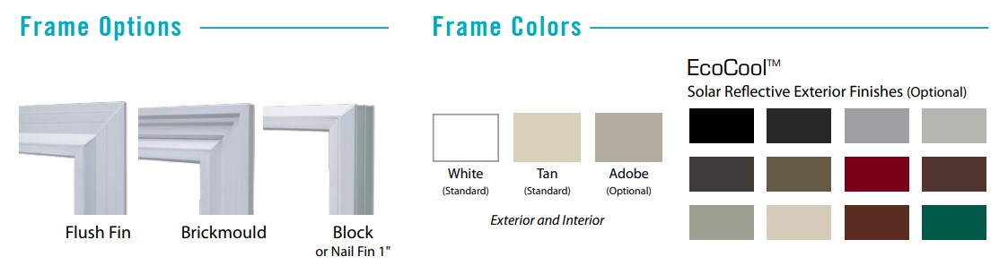 Frame and color options for Anlin Bay View Windows