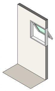 Illustration of awning windows