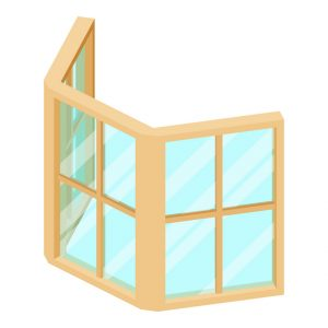 Illustration of bay windows