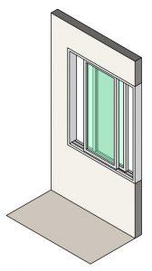 Illustration of double slider windows