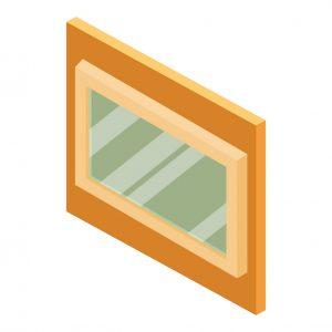 Illustration of picture windows