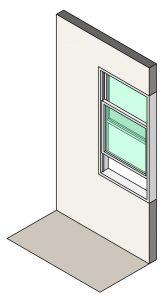 Illustration of single hung windows