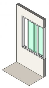 Illustration of single slider windows