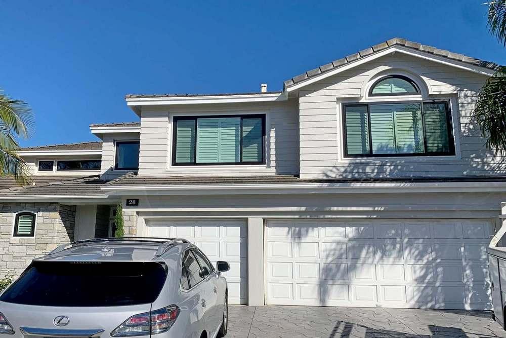 California Home with Black Windows